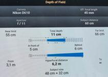 Foto App mit Hyperfokaler Entfernung