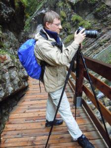 Fotograf im Regen