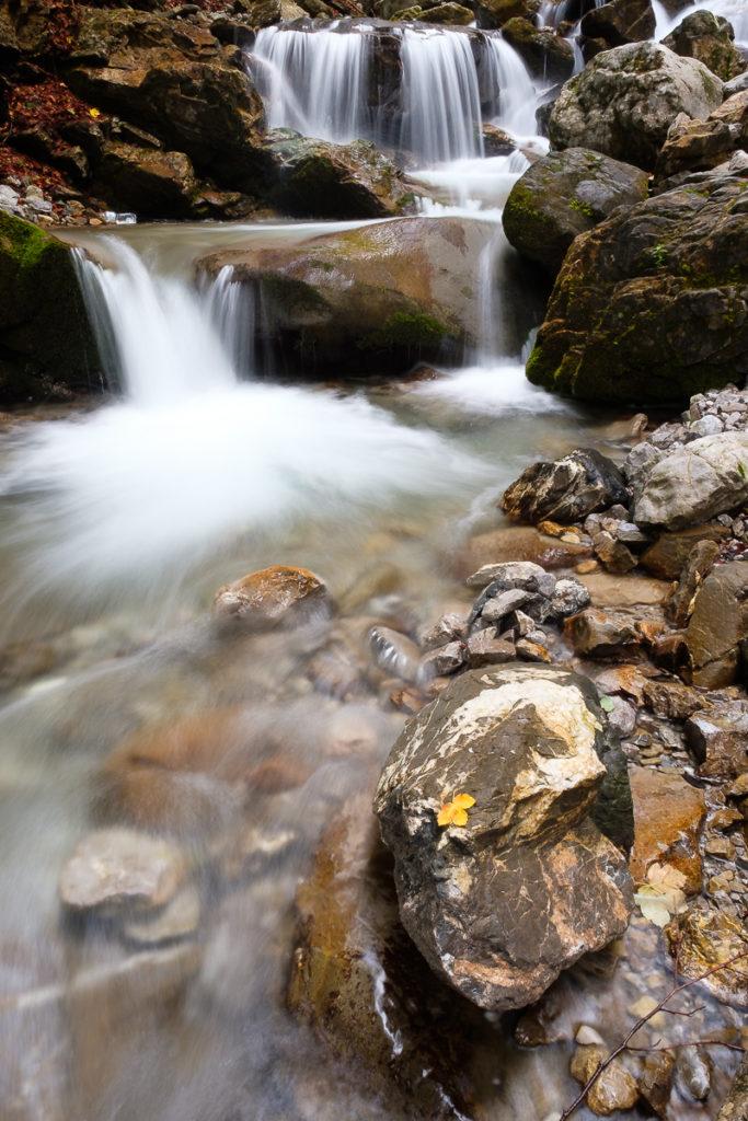 Wasserfall im Faltenbach bei Oberstdorf
