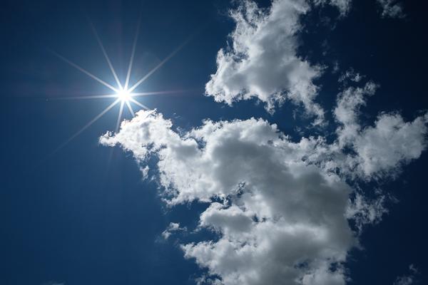 Sonnenstern mit dem Nisi 15 mm